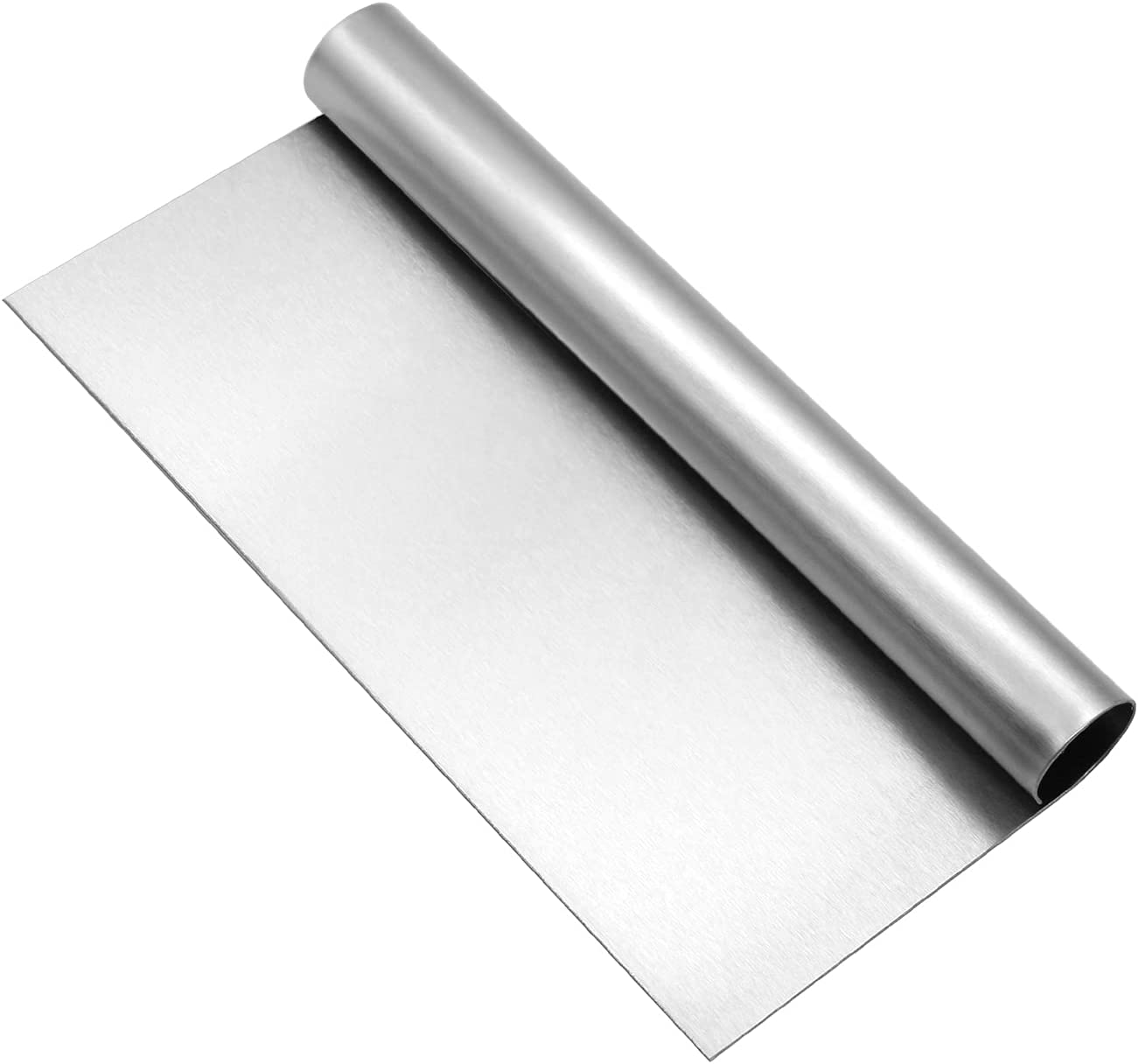 KUFUNG Stainless Steel Pastry Scraper Bench Scraper Chopper, Best as Pizza and Dough Cutter (Silver, 8 Inch)