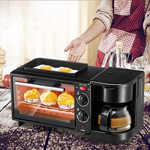 Máquina de desayuno, horno de parrilla antiadherente de material de aleación de aluminio(pink)