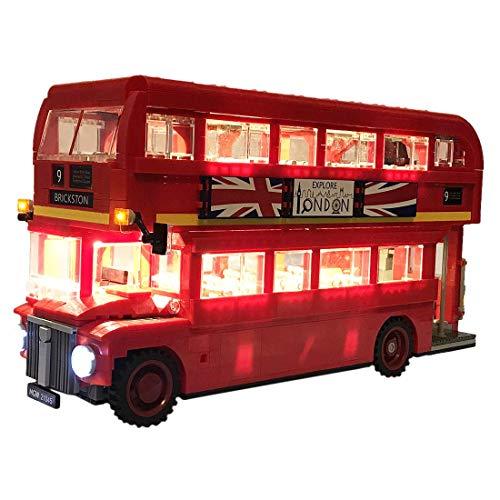 LINANNAN Light Kit para London Bus Building Blocks Modelo - Conjunto de luz LED Compatible con Lego 10258 (Nota: No Incluido el Modelo)