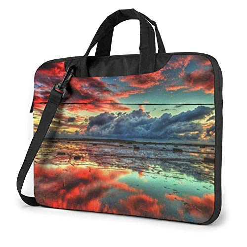 Sunset Sky Red Clouds Laptop Tote Bag Compatible with 13-15.6in Laptop MacBook Pro Carrying Shoulder Handbag