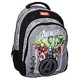 Marvel The Avengers Sac à Dos à roulettes - Thor, Hulk, Captain America, Iron Man - Gris