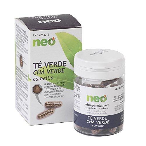 NEO | Extracto de Te Verde 200 mg | 45 Capsulas Naturales| Quema grasa Natural | Estimulante y Relajante | Libre de Alergenos y GMO | Tomar de 1 a 2 Capsulas a Dia | Liberacion Rapida