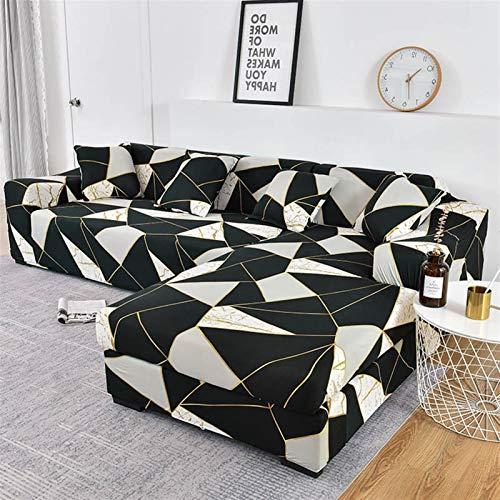 Cubiertas de sofá de Tela Escocesa elástica para Sala de Estar Necesita Pedido Pedido 2 Piezas Cubiertas para Fundas Sofas con Chaise Longue Funda Sofa Sofa SILLAP