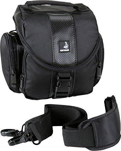 Bodyguard Fototasche Für System Bridgekameras und kleine DSLR Kameras Panasonic FZ82 FZ200 FZ300 FZ1000 FZ2000, Sony HX400V, Nikon B500 B600 B700 Canon EOS M100 Sony Alpha 6000 und weitere