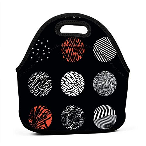 Rose Marlowe 21 Blurryface Pilots Lunch Bag Tote Waterproof Outdoor Travel Picnic Carry Case Lunchbox with Zipper for Womens Mens Boys Girls