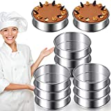 3.15 Inch Muffin Rings Crumpet Rings Stainless Steel Muffin Rings Molds Double Rolled Tart Rings Circular Round Tart Rings for Home Food Baking Tools (10 Pieces)