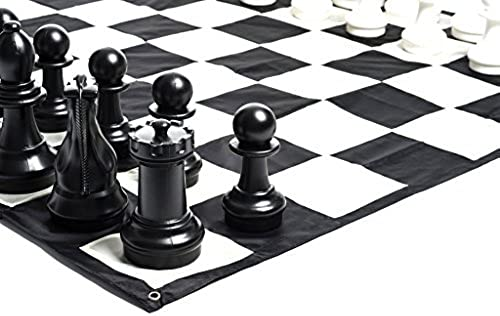 MegaChess Large Chess Set and Large Chess Mat - schwarz and Weiß - Plastic - 16 inch King by MegaChess