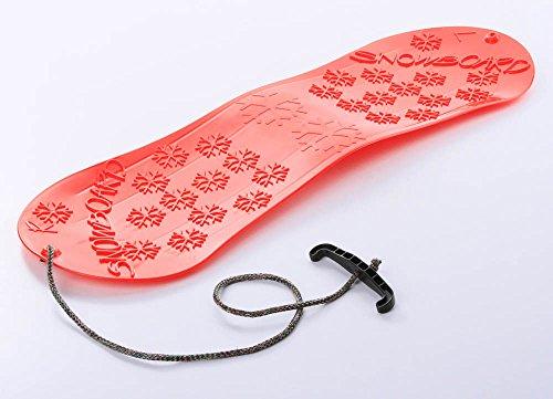 Unbekannt Snowboard Kindersnowboard Schlitten Schneegleiter Schneerutscher inkl. Zugseil 5 Farben (Rot)