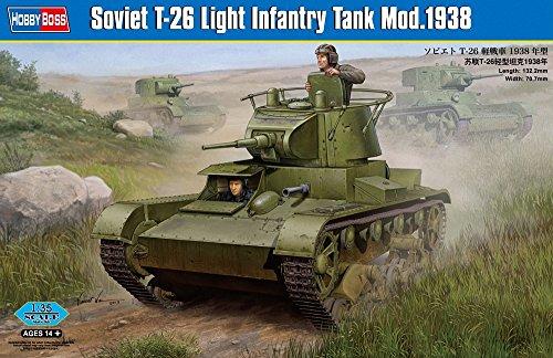 ホビーボス 1/35 ファイティングヴィークルシリーズ ソビエト T-26 軽戦車 1938年型 プラモデル