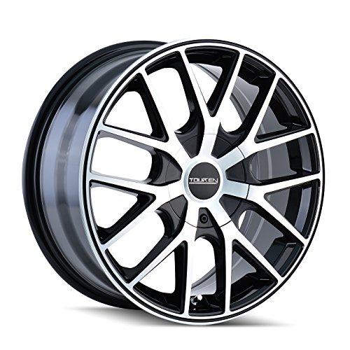 Touren TR60 3260 Black/Machined Face/Black Ring Wheel (17 x 7.5 inches /5 x 107...