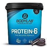Bodylab24 Protein-6 Cookies & Cream 2kg / Mehrkomponenten Protein-Pulver, Eiweißpulver aus 6...