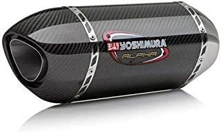 Yoshimura Alpha Full System Exhaust (Race/Stainless Steel/Carbon Fiber/Carbon Fiber/Works Finish) for 17-18 Kawasaki EX650E