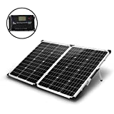 KOMAES 100 Watts 12Volts Monocrystalline Solar Panel with Energy-efficient Tech Kit Includes 20Amp...