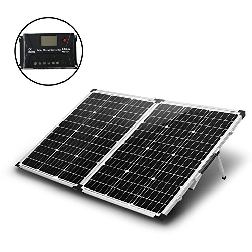 KOMAES 100 Watts 12Volts Monocrystalline Solar Panel with...