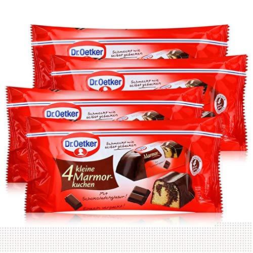 Dr.Oetker kleine Marmor-Kuchen 4x43g - mit Schokoladenglasur (4er Pack)