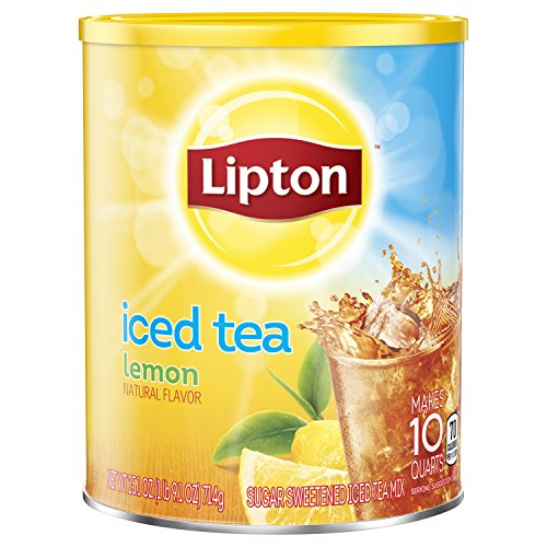 Lipton Black Iced Tea Mix, Lemon,25.1 Ounce
