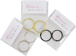 ネイルワイヤー 太さ0.2mm GOLD &SILVER & BLACK SET /合計3メートル(ゴールド1メートル+シルバー1メートル+ブラック1メートル)