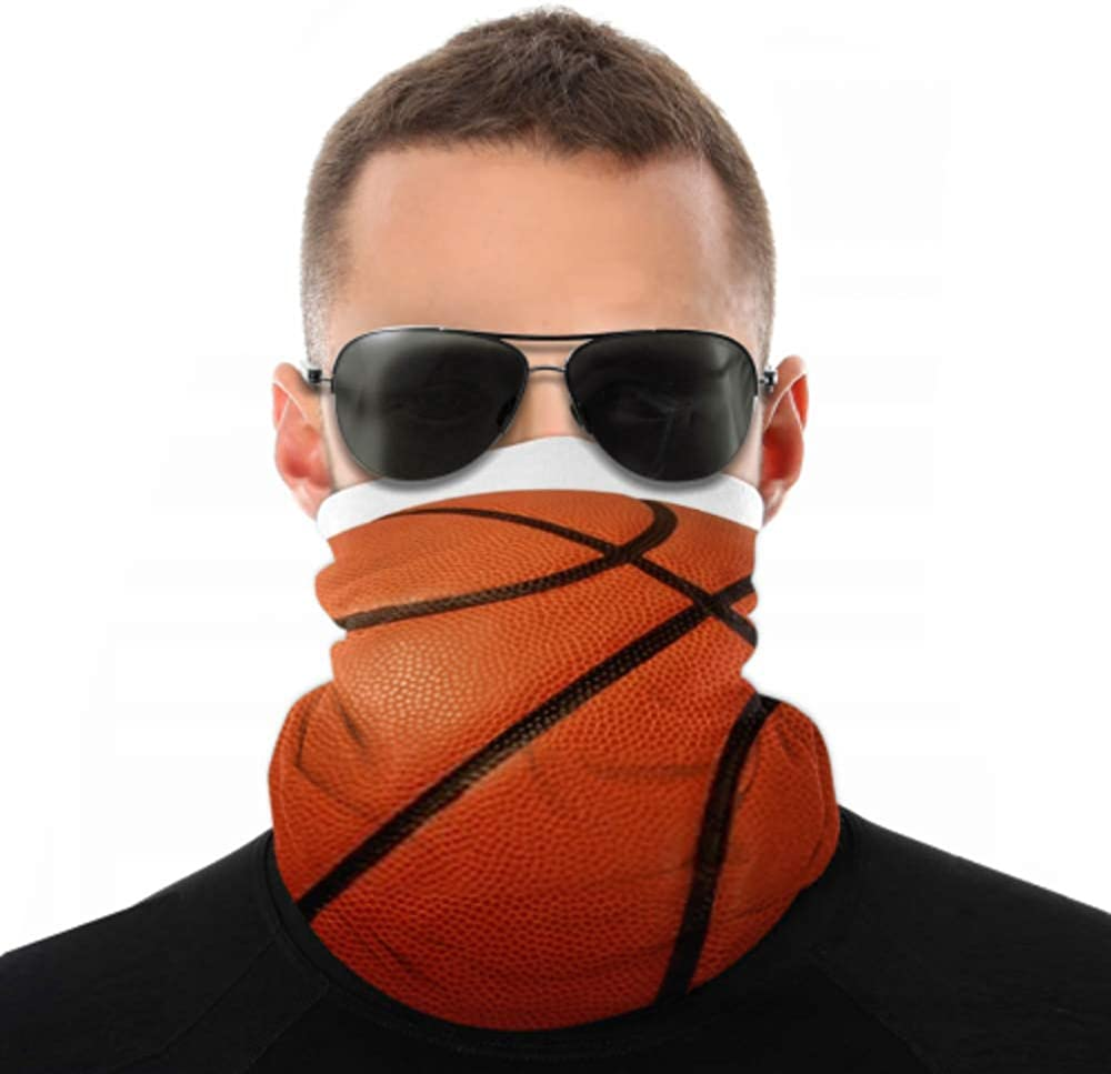 Headbands For Men Women Neck Gaiter, Face Mask, Headband, Scarf Basketball Isolated On White Background Sports Turban Multi Scarf Double Sided Print Elastic Headbands For Women For Sport Outdoor