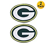 2-Pack NFL Green Bay Packers Football Team Logo, Embroidered Patch, Iron On Sew On Appliques,Tactical Military Morale Hook and Loop Fasteners Backing Patches Sport Badge Emblem Sign(Size:2.5'X3.6')