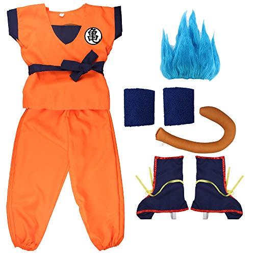 Nobranded Trajes de Dragon Ball de Anime de Vacaciones Son Goku Carnaval de Halloween Disfraces de Cosplay de Anime para niños Adultos