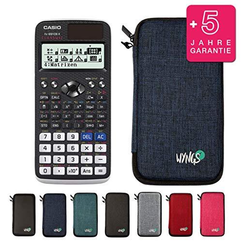 Casio FX 991 DE X + erweiterte Garantie + Schutztasche in Blau