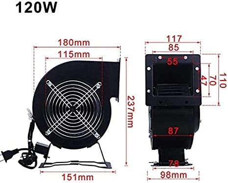 LLDKA 80w Industrial Silent Centrifugal Blower//Commercial Fan,For Ducting Ventilation,85w