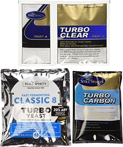 Still Spirits Triple Pack - Classic 8 Turbo Yeast, Turbo Carbon and Turbo Clear