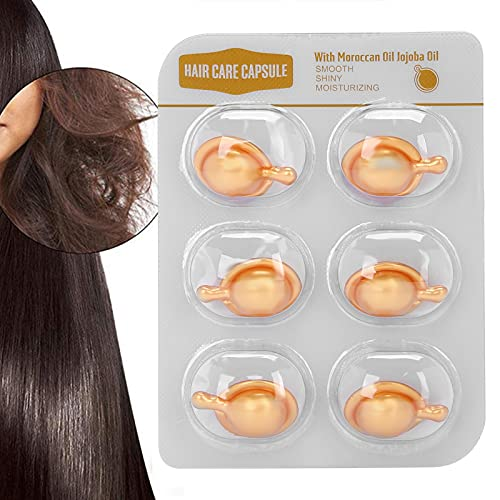 Cápsula para el cuidado del cabello, productos para el cuidado del cabello, cápsula hidratante para el cabello, suero reparador para el cabello sin lavado para el hogar(Golden, Polar Animals)