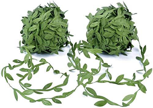 Tweal Artificial Vine Greenery Garland,40m Hojas Verdes Cinta Falsa Ivy Leaf Garland para DIY Wedding Party, decoración para el hogar, jardín, Corona y decoración de Flores
