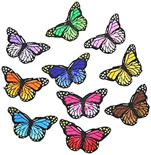 0c325278f IDS Set of 10 Iron on Butterfly Applique Patches, Sew on Butterfly Patches  - Embroidered