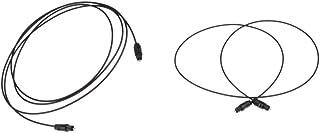 1m + 1.5m デジタル 光オーディオケーブル 光ファイバーケーブル OD2.2 トスリンク ケーブル オス CD-DVD PS4 TV XBOX適用 ブラック 実用的