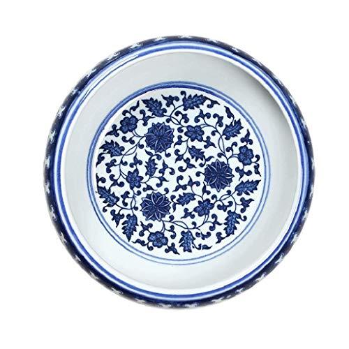 Preisvergleich Produktbild Kewei Aschenbecher,  blau-weißes Porzellan-Muster,  einfaches Design,  runder Aschenbecher Zuhause (Farbe: Blau,  Größe: 21 x 7 cm)