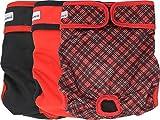 Petsweare wasserdicht saugfähigkeit waschbare robuste Wiederverwendbare Hundewindeln läufigkeitshose inkontinenzunterlage für weiblichen Welpe und Hündinnen 3 Pack (XX - Large, Scottish Rot)
