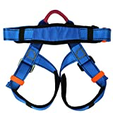 Flowersea Climbing Harness,Child Half Body Guide Harness,Protect Leg Waist Wider Safe Seat Belts for Mountaineering Outward Band Rescue Working on The Higher Level Climbing Rappelling Equip