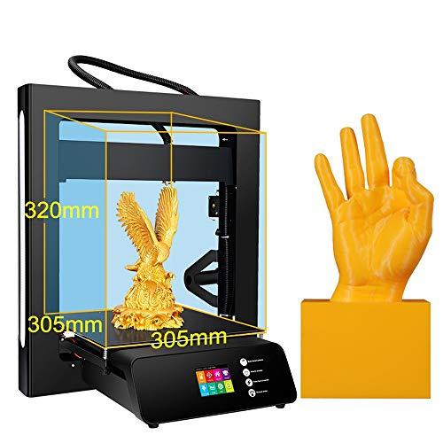MJZHXM Imprimante 3D Imprimante A5S 3D Mise à Niveau avec Une Alimentation certifiée UL et Impression avec la Taille 305 * 305 * 320mm de la Construction de la Carte SD