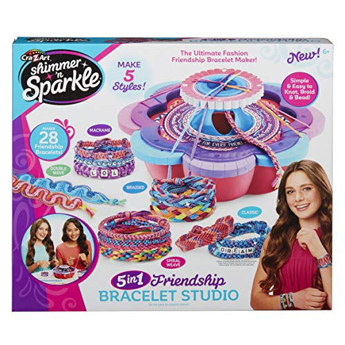Cra-Z-Art Shimmer & Sparkle Ultimate Friendship Bracelet Maker, Multiple