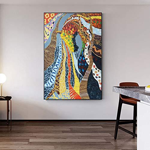 Geen frame porselein ng kits, kleurrijke paard patroon in arabische olie ng, print woonkamer, gang restaurant wallpaper40x60cm
