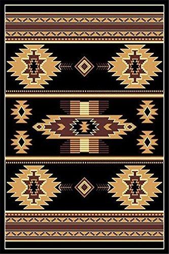 Black 4 X 6 Area Rug Southwestern Apache Native American Rug