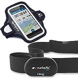 Runtastic Bundle Promotion RUNBT1 + RUNARM3, Heart Rate Combo Monitor, Fascia Cardio Bluetooth Smart + Sports Armband 3.0 Fascia Contenitore Braccio in Neoprene, Nero