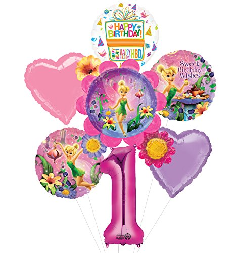 Mayflower Tinkerbell 1st Birthday Party Supplies Flower Cluster Balloon Bouquet Decorations