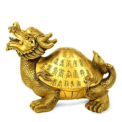 YOPDNE Seiko Kaiguang Tartaruga Drago in Rame Puro Decorazione Baishou Dragon Turtle