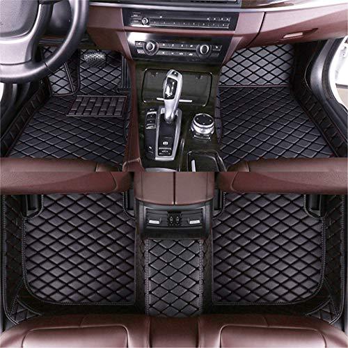 Jiahe El Alfombra Coche para Audi Q3 2019 Alfombra Personalizada Coche para Cuero Esteras Coche Antideslizantes Alfombrillas Moqueta Impermeables Set Negro