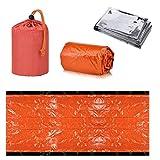 INTVN Saco de Emergencia Dormir Supervivencia y Manta de Emergencia de Rescate para Actividades al Aire Libre, Camping, Aventura