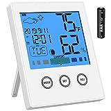 Newdora Thermo-Hygrometer Thermometer Hygrometer Raumluftüberwachtung Temperatur und Luftfeuchtigkeitmessgerät mit Hintergrundbeleuchtung
