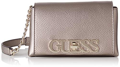 Guess GUESSUptown Chic Mini Xbody FlapMujerGris (Pewter) 13x29x42 Centimeters (W x H x L)