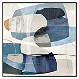 Lolobeauty Carteles de Lona de Tono Azul Abstracto Imprimir Cuadros de Arte de Pared de decoración única para Sala de Estar Dormitorio Estudio Pasillo Entrada Cafe, 20x20 cm (Sin Marco)