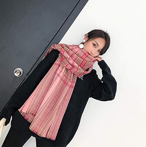 LIUQIAN Imitation de Cachemire écharpe épaissi Long Cou Grand châle-Dual-Cent, étudiants Treillis Chaud Automne Hiver féminin 200 * 7 0cm