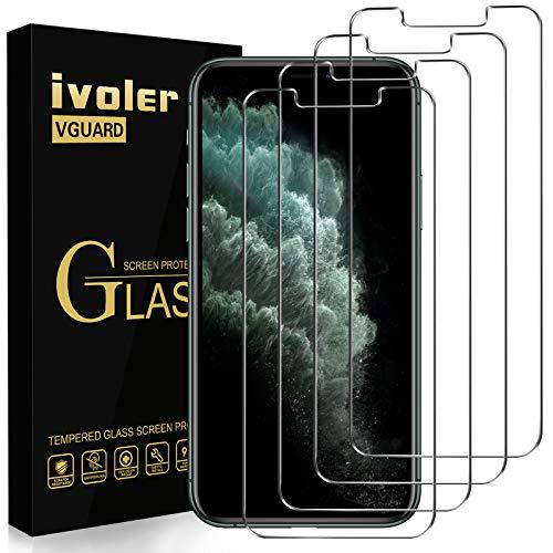 iVoler [4 Pack] Pellicola Vetro Temperato per iPhone 11 PRO/iPhone XS/iPhone X/iPhone 10 5.8 Pollici, Pellicola Protettiva, Protezione per Schermo - Transparente