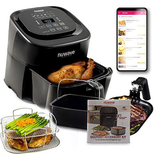 NuWave Brio 6-Quart Healthy Digital Air Fryer with...