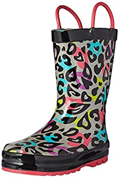 Western Chief Girls Printed Rain Boot Groovy Leopard 5 M US Toddler